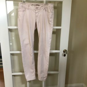 Express Pink Jean Size 8 Light Pink Stretcy
